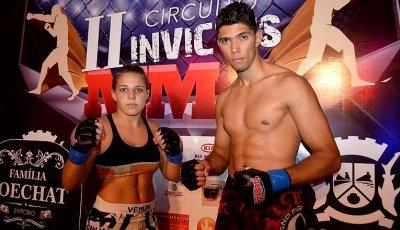 Os atletas Isabelly Varela e Johnny Walker representaram Rio das Ostras..