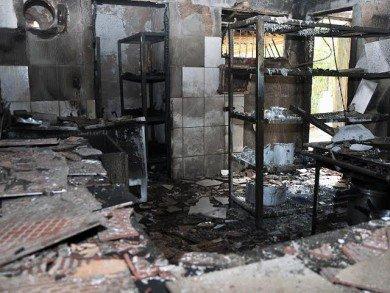 No início de março o colégio teve a cozinha e o refeitório queimados