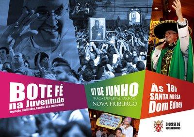 Acontece no próximo sábado (7), em Nova Friburgo, o evento Bote Fé na Juventude