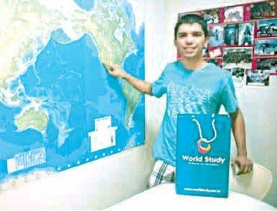 Aluno de Rio das Ostras � �nico representante brasileiro em interc�mbio de tecnologia na Calif�rnia