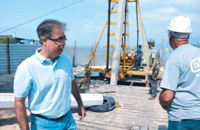 De acordo com o secretário de Obras, Wayner Fajardo, o Píer do Centro vai estar pronto até o Natal