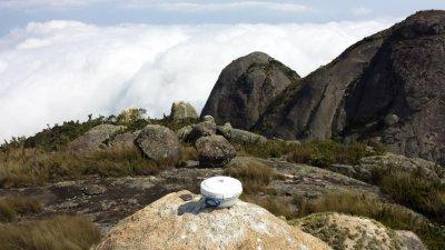 DGPS sendo usado na medição do Pico Maior