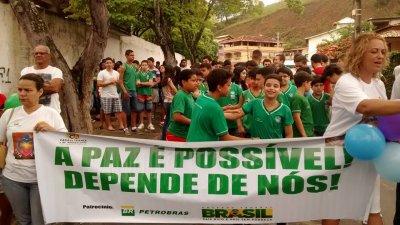 ação faz parte do Projeto Viva Paz, realizado pela Casa da Criança e do Adolescente