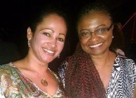 Marta Medeiros e a Ministra da Igualdade Racial Nilma Lino Gomes - foto: Divulgação