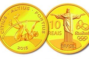O valor de face da moeda de ouro é R$ 10, e seu preço para venda, R$ 1.180