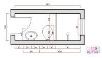 Exemplo de dimensionamento de banheiro