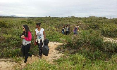 O objetivo da atividade foi além da limpeza de uma das 18 lagoas do Parque Nacional