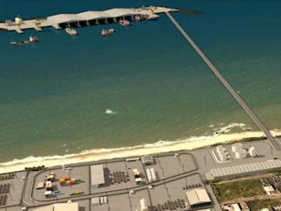 Proposta do futuro porto de Macaé no bairro Barreto. Foto: divulgação