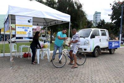 A ação na Praça do Mirante da Lagoa é para alertar a população sobre a Semana do Meio Ambiente