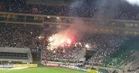 Organizada do Palmeiras utiliza sinalizadores durante partida do Campeonato Paulista