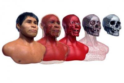 Exposição recria rosto de indígena que viveu na região central do Paraná há dois mil anos