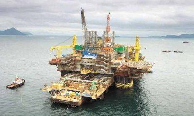 Plataforma da Petrobras no mar de Angra dos Reis (RJ)