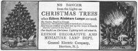 Propaganda das lâmpadas de Natal que prometiam evitar acidentes com as velas