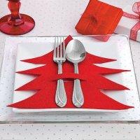 O Natal está presente na decoração da mesa também