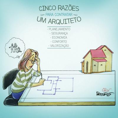 Divulgação da campanha do CAU pelo dia dos arquitetos e urbanistas - 5 razões para contratar um arquiteto - CAU/BR