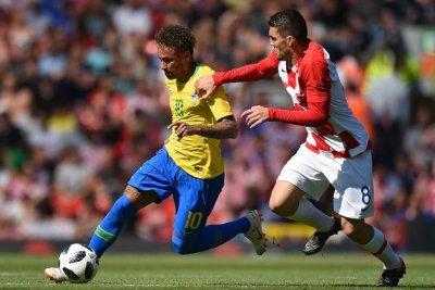 Neymar garantiu primeiro gol do Brasil contra a Croácia