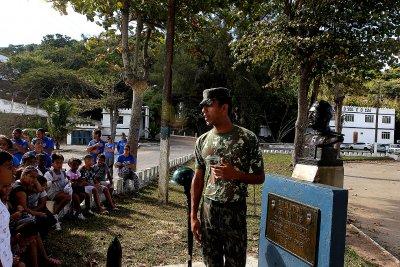 Pela manhã, os participantes realizaram passeio no Forte Marechal Hermes
