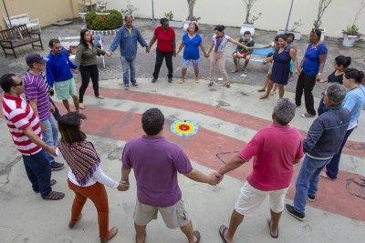 Nesta segunda feira (6), o Solar do Mellos abriu as portas para mais uma Roda Aberta de Danças Circulares