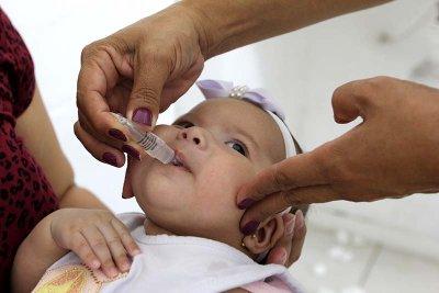 Até esta terça-feira (4), cerca de 12,5 mil doses da vacina contra a poliomielite foram aplicadas