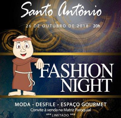 Santo Antônio Fashion Night, que acontecerá no dia 26 de outubro, no Espaço São José, na Imbetiba