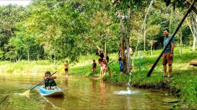 O local abriga um rico ecossistema em fauna e flora e tem sido destino certo para quem busca tranquilidade