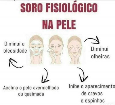 Soro fisiológico: hidrata e acaba com a oleosidade do rosto