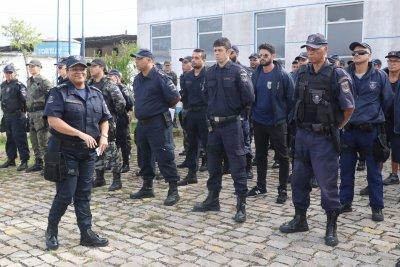 Adriana Manilha , a nova comandante, a primeira mulher a assumir o comando geral da Guarda Municipal de Macaé
