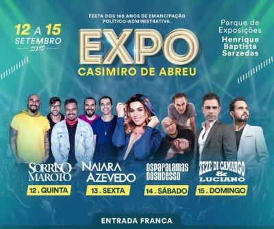 A festa acontece no Parque de Exposições Henrique Baptista Sarzedas, que fica à margem da BR-101, em Casimiro