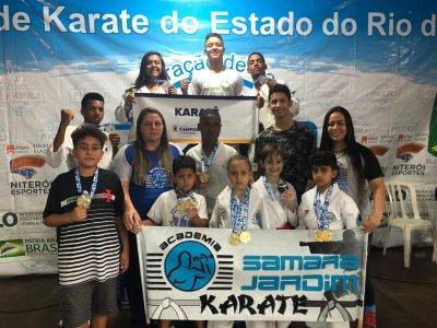 Cerca de 600 atletas de todo estado marcaram presença nesse grande evento e a equipe da  Academia Samara Jardim