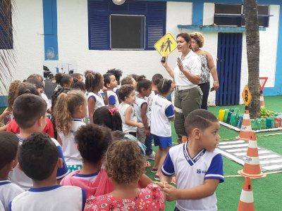O trabalho é desenvolvido pela equipe da Coordenadoria de Educação no Trânsito da Secretaria de Mobilidade Urbana