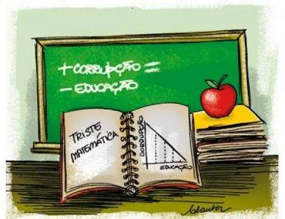 Mais corrupção, menos educação!