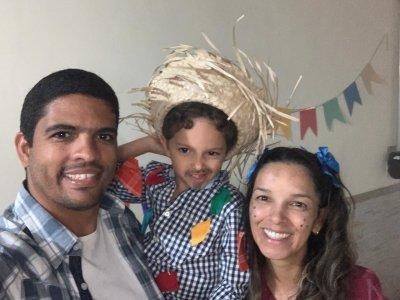 Adriana Corrêa aproveitou a festa com sua família