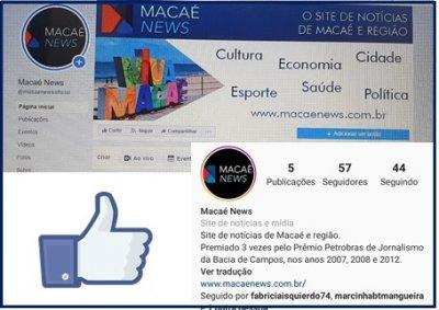 Site Macaé News está no Fecebook e Instagram