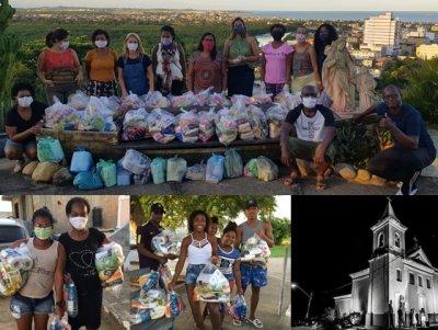 Igreja Sant'Anna doou cerca de 10 toneladas de alimentos em 3 meses