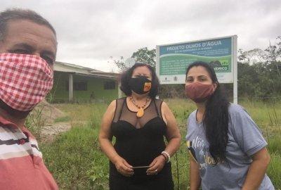 Candidata à prefeitura de Carapebus visita assentamento e aquece a campanha
