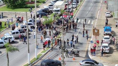 Empresários de Macaé fizeram manifestação na segunda e terça-feira